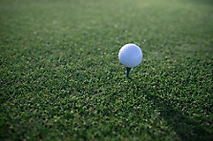 image of golf ball on tee