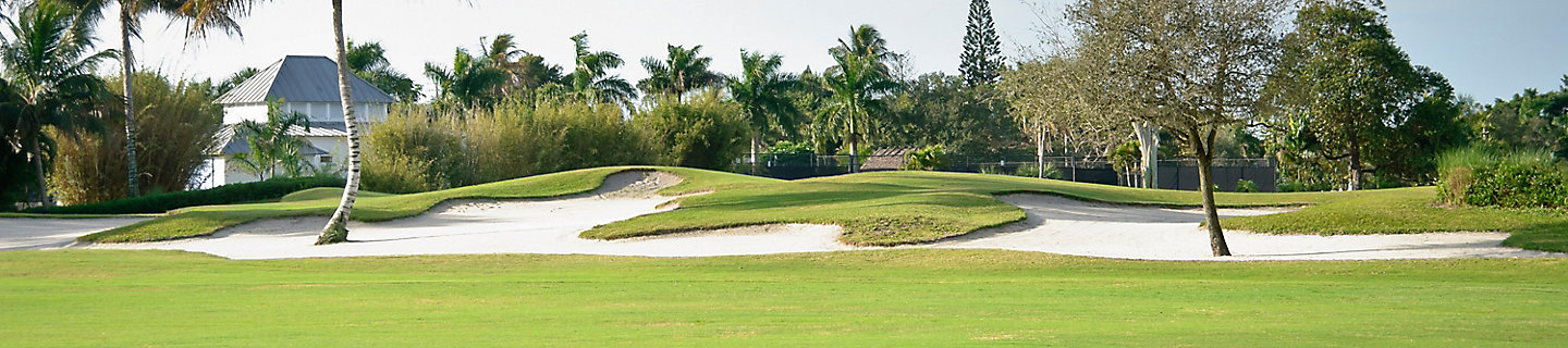Image of sand traps on golf course