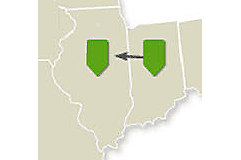 Map - Eastern Route - Day 2 - Midwest Crop Tour