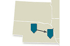Map - Western Route - Day 2 - Midwest Crop Tour