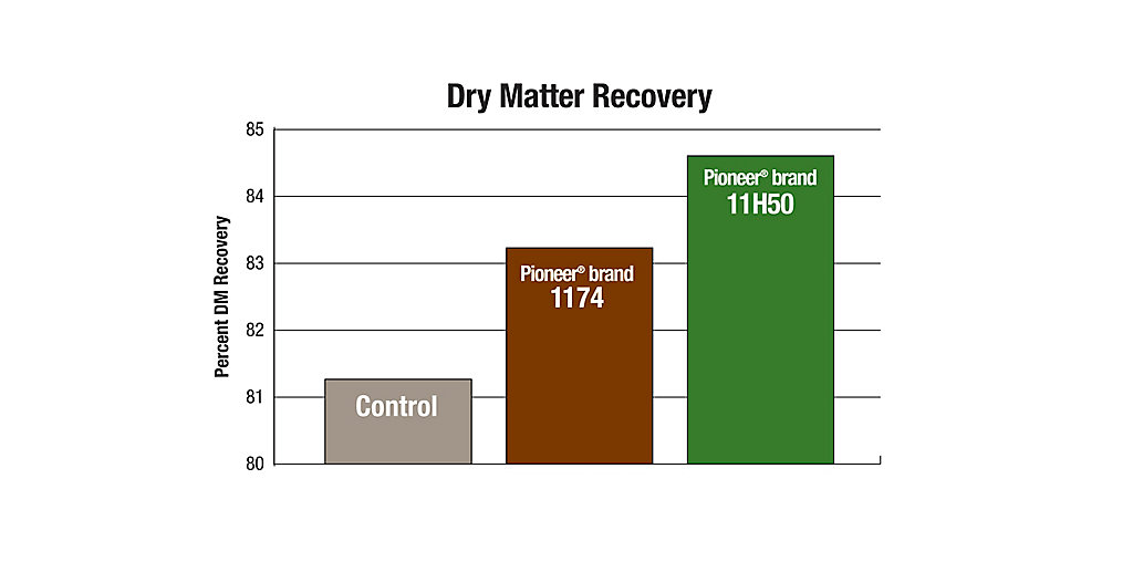11H50 Dry Matter Recovery Chart