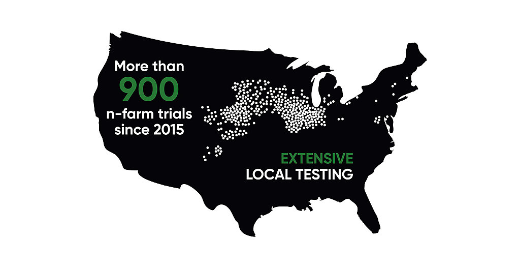 Extensive local testing map