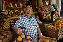 Man in fruit market