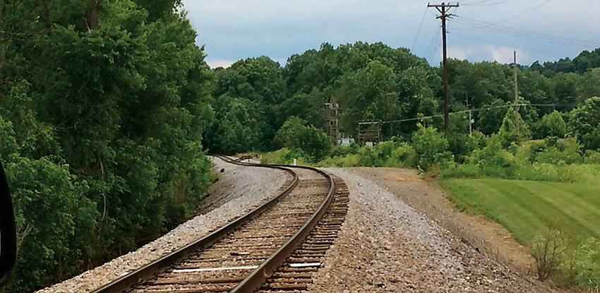 railroad with clean weed free sides