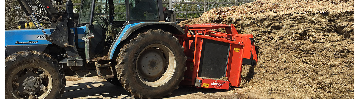 Silage being cut