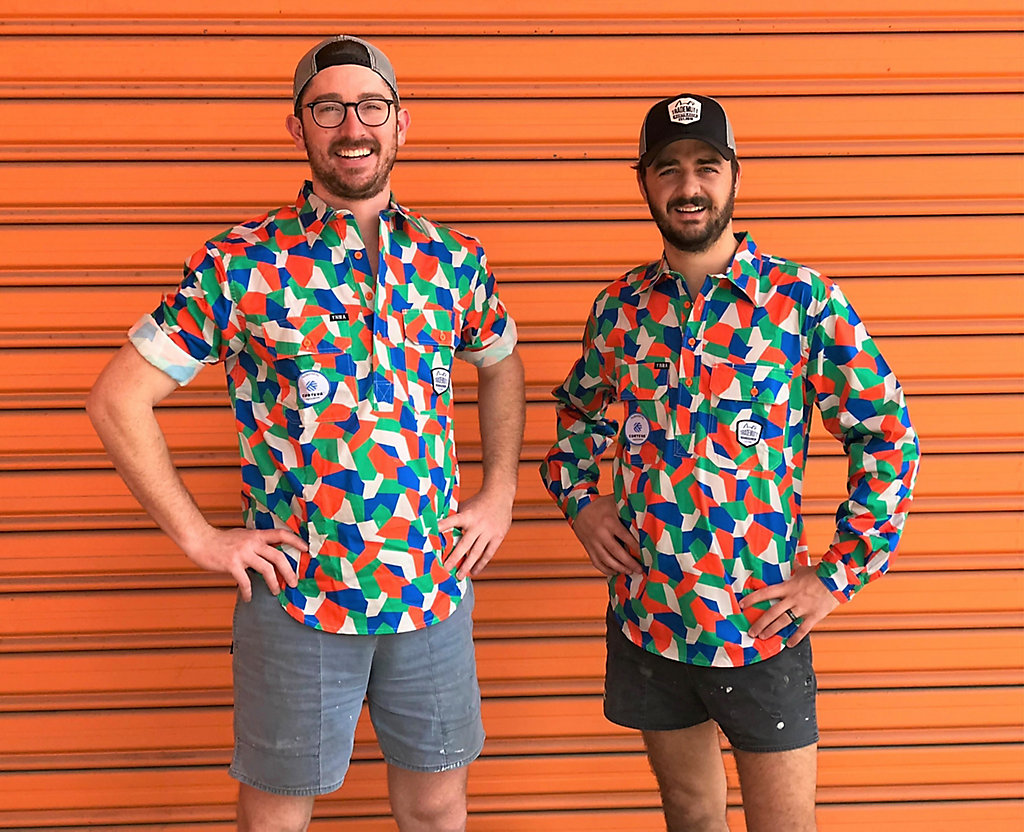 Co-Founders Ed & Dan in their Corteva TradeMutt shirts