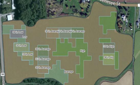 Map: VRS study fields