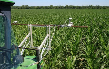 How to position the OptRx sensor on fertilizer applicator.