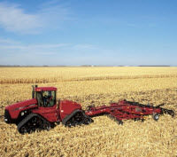 A corn crop produces more than twice the residue of a soybean crop.