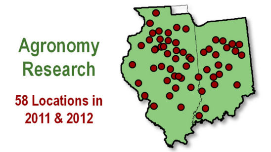 Map - Agronomy research locations - IN/IL