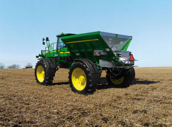 Fertilizer P and K are often broadcast applied in the fall following soybean harvest.