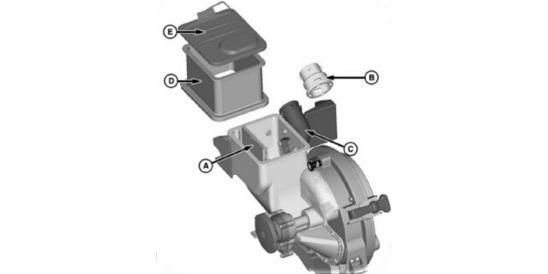 Install cap on mini-hopper hose inlet
