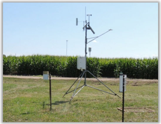 Trial research site - cornfield, South Dakota