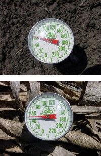 Soil temperature gauges