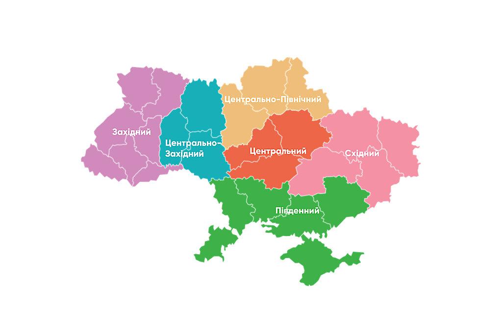 Розподіл регіонів