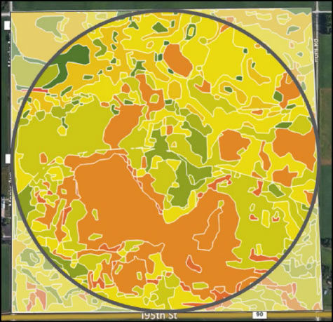 Decision Zones incorporate a field's historical yield data and management layers to segment and improve the precision of the soil productivity zones.