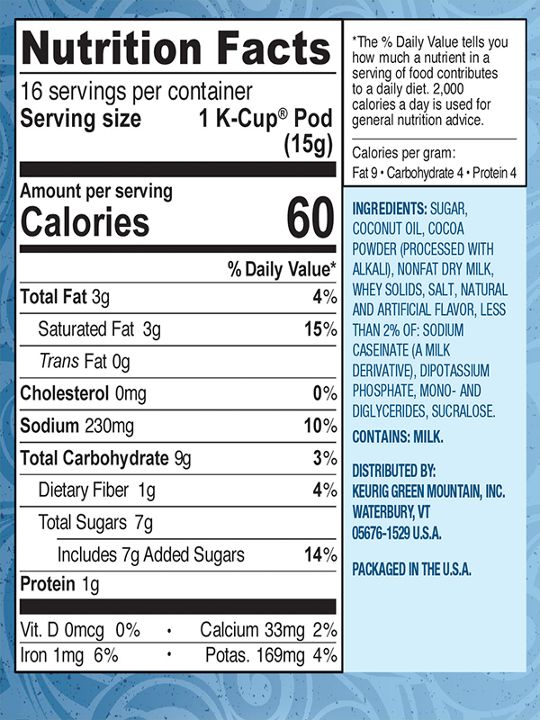 611247358382 Nutritional Facts