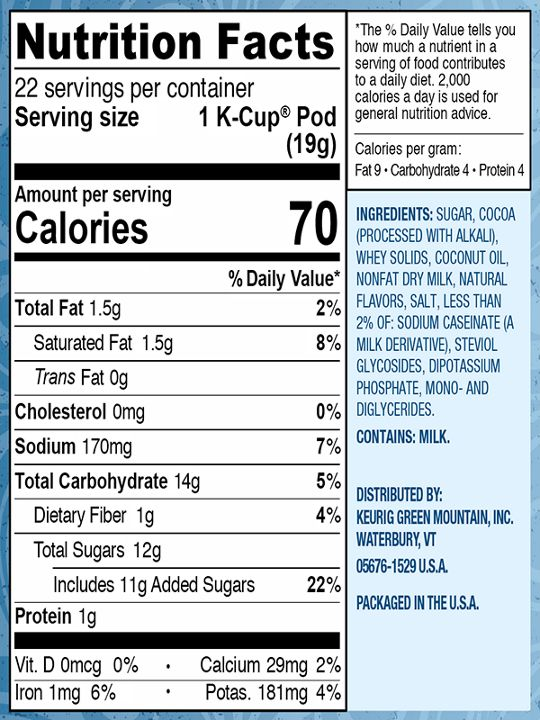 99555012521 Nutritional Facts