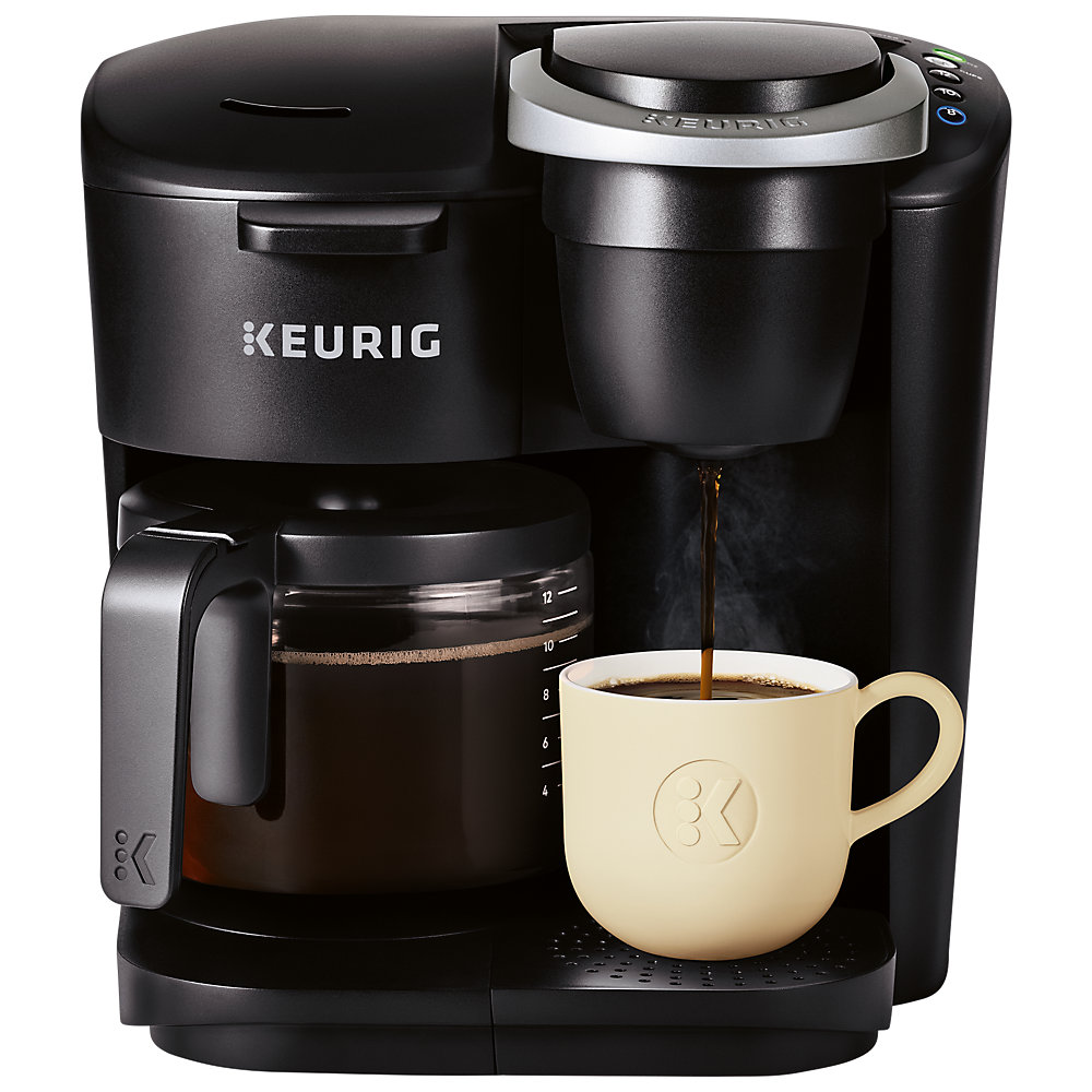 K‑Duo Essentials TM cup and carafe brewer perfect for any occasion