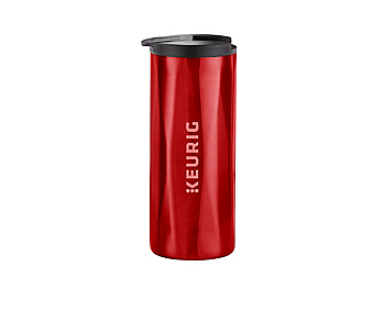 14oz. Faceted Travel Mug Red