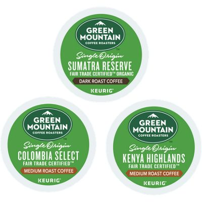 Green Mountain Coffee Roasters® Single Origin Variety Pack ( 72-ct ) Bundle
