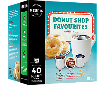 Donut Shop Favourites Variety Box 40ct Recyclable