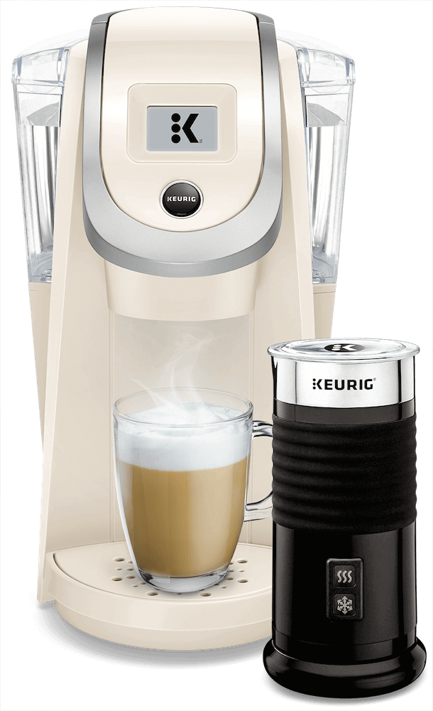 K200 Coffee Maker (Sandy Pearl) + Keurig<sup>®</sup> Milk Frother