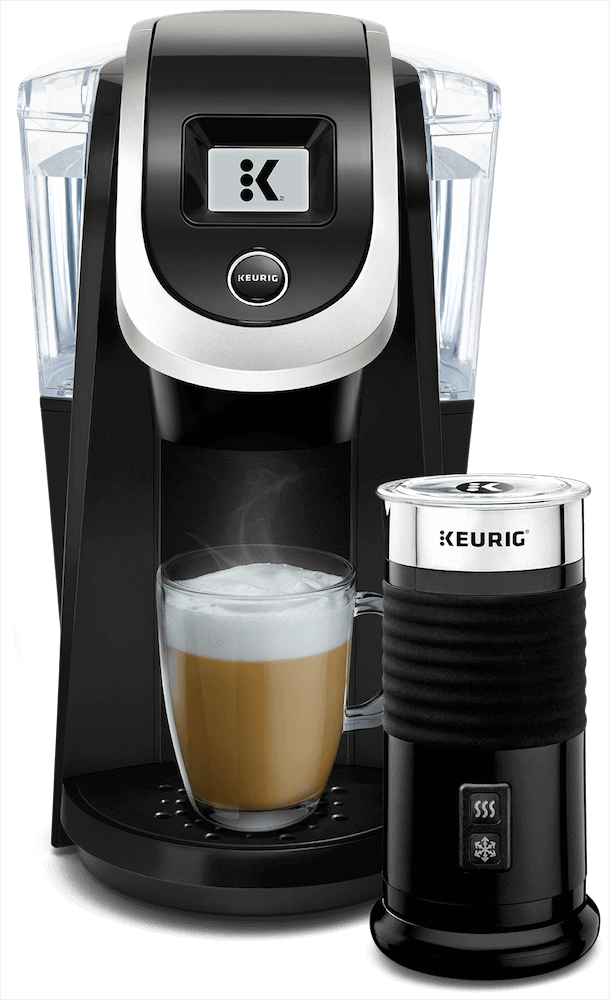 K200 Coffee Maker (Black) + Keurig<sup>®</sup> Milk Frother