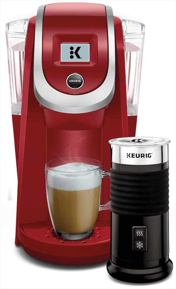 K200 Coffee Maker (Imperial Red) + Keurig<sup>®</sup> Milk Frother