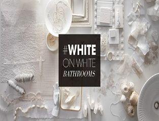 xu hướng phòng tắm white on white