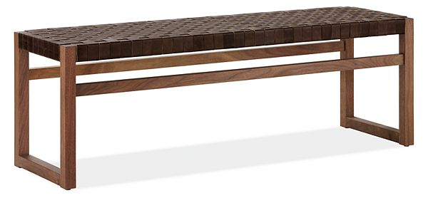 Brilliant Reed Bench With Leather Seat Lamtechconsult Wood Chair Design Ideas Lamtechconsultcom