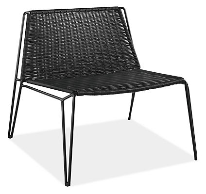 penelope outdoor lounge chair - modern outdoor chairs & chaises