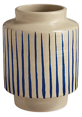Penrose Striped Vase Planter