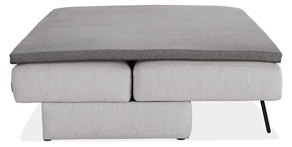 "Bruno 80"" Armless Convertible Sleeper Sofa with Mattress Topper"