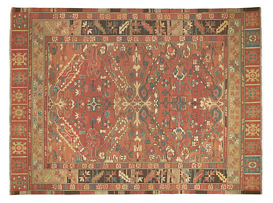 kayseri hand-knotted wool rug - modern patterned rugs - modern