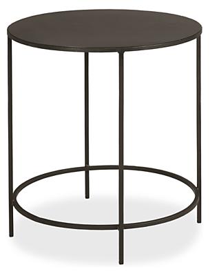 slim round natural steel end tables - modern end tables - modern