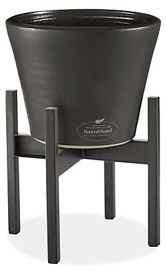 Era 10 diam 8h Cone Graphite Planter with Graphite Stand