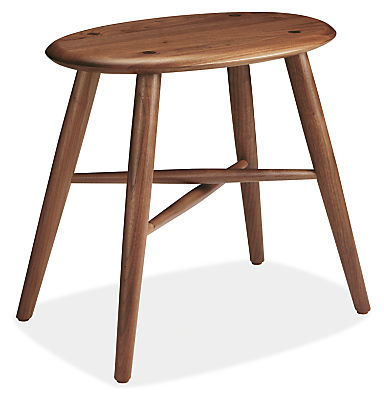 Dell 19w 13d 18h Stool in Walnut