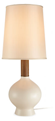 Rayas Table Lamp in Ivory