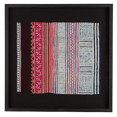 Framed Vintage Hmong Textile