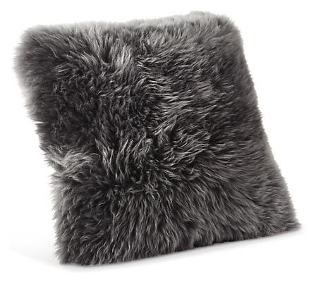 Sheepskin 14w 14h Throw Pillow