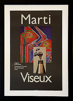 Vintage French Gallery Poster, Joan Marti Aragon and Claude Viseux