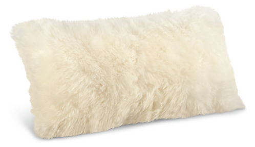 Sheepskin 22w 11h Throw Pillow