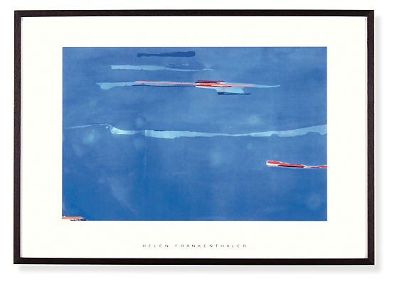 Helen Frankenthaler, Ocean Drive West 1, 1974 with Ebony Frame