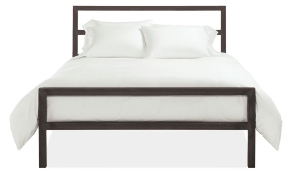 Parsons Natural Steel Bed Modern Beds Platform Beds Modern