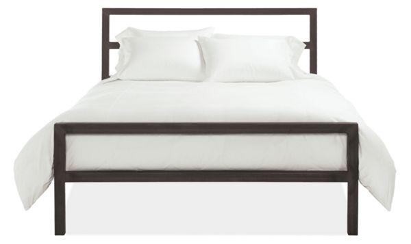 Parsons Natural Steel Bed Modern Beds Platform Beds Modern