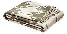 Indio Throw in Olive/Oatmeal