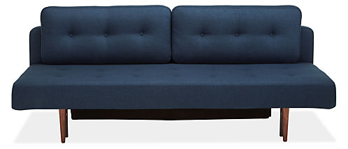 """Deco 79"""" Armless Convertible Sleeper Sofa without Mattress Topper"""