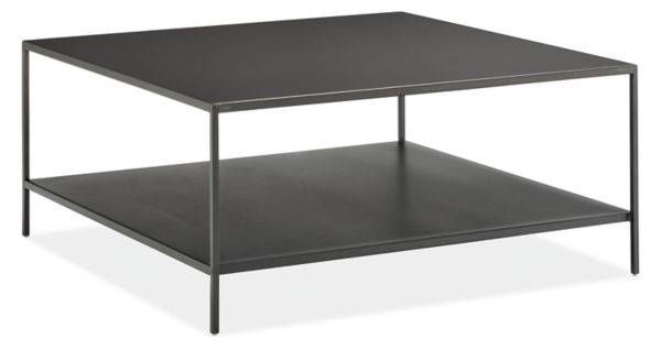 Slim Coffee Tables In Natural Steel