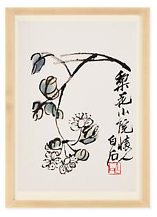 Qi Baishi White Blossom Reproduction